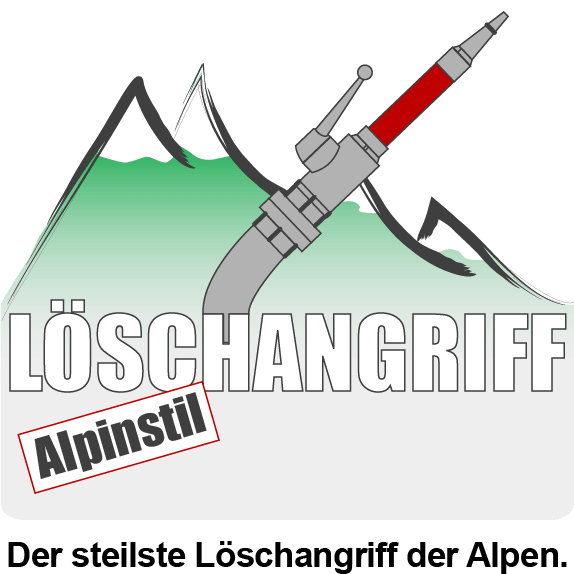 Löschangriff Alpinstil. Der steilste Löschangriff der Alpen.