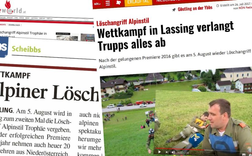 Löschangriff Alpinstil Presse